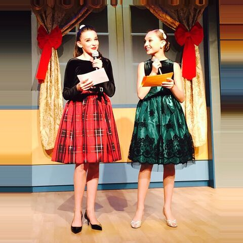 File:A Magical Broadway Christmas - Kendall and Maddie as MCs.jpg