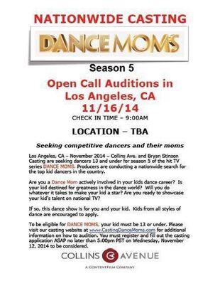 Dance Moms open call casting season 5