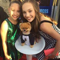 Mackenzie and Maddie with jiffpom - Reality TV Awards - 2015-05-13