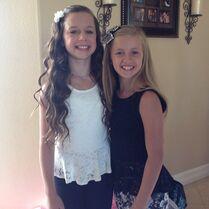 Talia and Kayla 2013-08-14