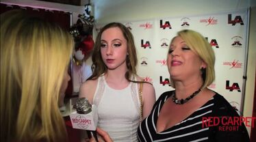 Liza and Chloe Smith interviewed by JJ Snyder at opening of ALDC LA