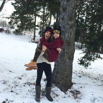 Ashtin Roth with Kaycee Rice in snow