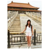 SarahP visiting Forbidden City Beijing