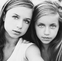 Talia Seitel and Kayla Seitel BW