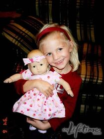 Young Paige w doll