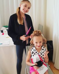 707 Brynn and Lilly at interviews
