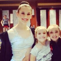 Ally Serigne-march03 2013-instagram-with-Mackenzie-time of NYCDA in Pitt