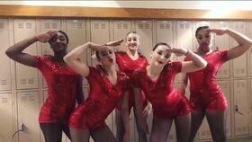 722 Girls before Group Dance