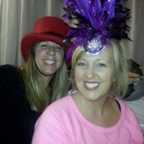 Tiffany Robinson with Jessalynn in AUDC magic-act hats 2013-09-25