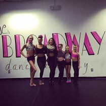 Ava with jeanettes broadway dance academy team members