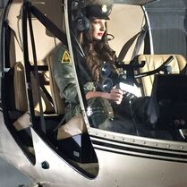 Kendall in helicopter cockpit - posted 2Feb2015