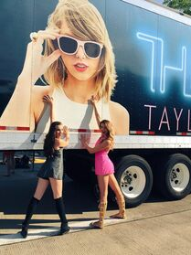 Kendall and Ryleigh at Taylor Swift concert 6June2015