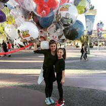 Kalani and Mackenzie at Disneyland 2015-04-04