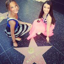 Ava Cota and Kamryn Beck - walk of fame for Debbie Allen