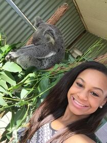 Nia and Koala March 2015
