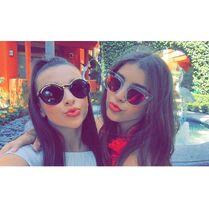 Kendall and Kalani with shades 2015-04-15