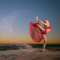 Talia Seitel - chrisreillyphotography - red and water