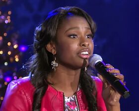 CoCo Jones singing in Christmas Special