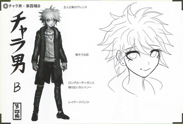 File:Art Book Scan Danganronpa V3 Character Designs Betas Rantaro Amami (3).png