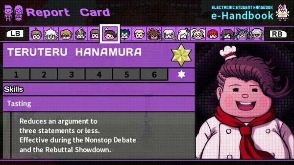 Teruteru Hanamura Report Card Skill