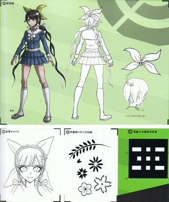 File:Art Book Scan Danganronpa V3 Tenko Chabashira Designs.png