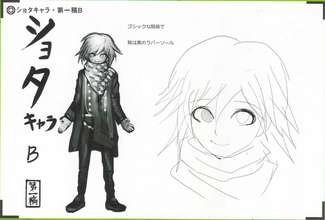 File:Art Book Scan Danganronpa V3 Character Designs Betas Kokichi Oma (2).png