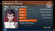 Kiyotaka Ishimaru Report Card Page 1
