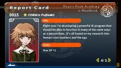 Chihiro Fujisaki Report Card Page 4