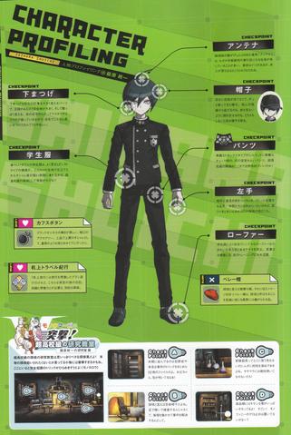 File:Art Book Scan Danganronpa V3 Shuichi Saihara Character Profiling.png