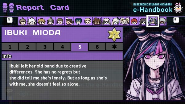 Ibuki Mioda's Report Card Page 5
