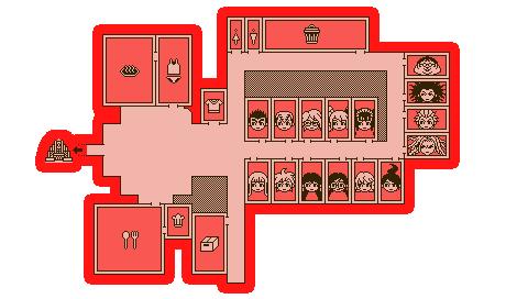 Danganronpa Dorm Room Map