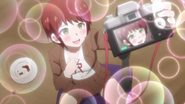 Mahiru taking selfies of herself