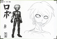 Art Book Scan Danganronpa V3 Character Designs Betas Keebo K1-B0 Ki-Bo Kiibo (2)