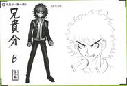 Art Book Scan Danganronpa V3 Character Designs Betas Kaito Momota (2)