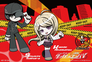 Danganronpa V3 Kaede Akamatsu and Shuichi Saihara Postcard from Limited Base