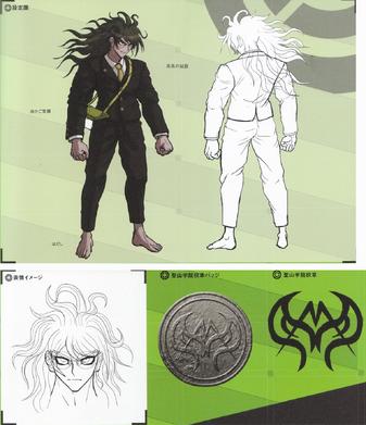 File:Art Book Scan Danganronpa V3 Gonta Gokuhara Designs.png