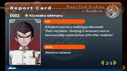 Kiyotaka Ishimaru Report Card Page 2