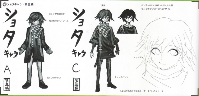 File:Art Book Scan Danganronpa V3 Character Designs Betas Kokichi Oma (3).png