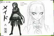 Art Book Scan Danganronpa V3 Character Designs Betas Kirumi Tojo (1)