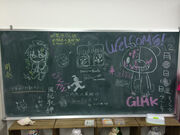 Danganronpa Hope's Peak Academy of Art Event Whiteboard