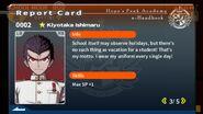 Kiyotaka Ishimaru Report Card Page 3