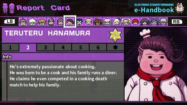 Teruteru Hanamura Report Card Page 2