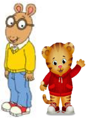 Arthur Read and Daniel Tiger