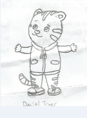 Daniel Tiger (First Drawing Ever)