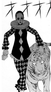 Clown and tiger