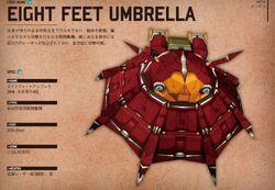 Eight feet umbrella