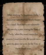 QOS Hubert's Note About Sandmen