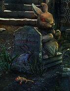 Fl rat in cemetery