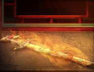 Oriental flaming sword