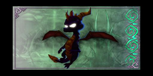 File:Dark Spyro.png